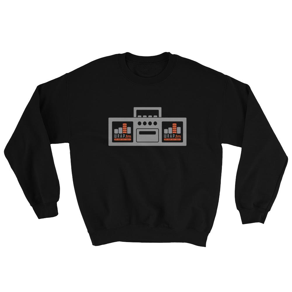 WRAP.fm Boombox Crewneck Sweatshirt