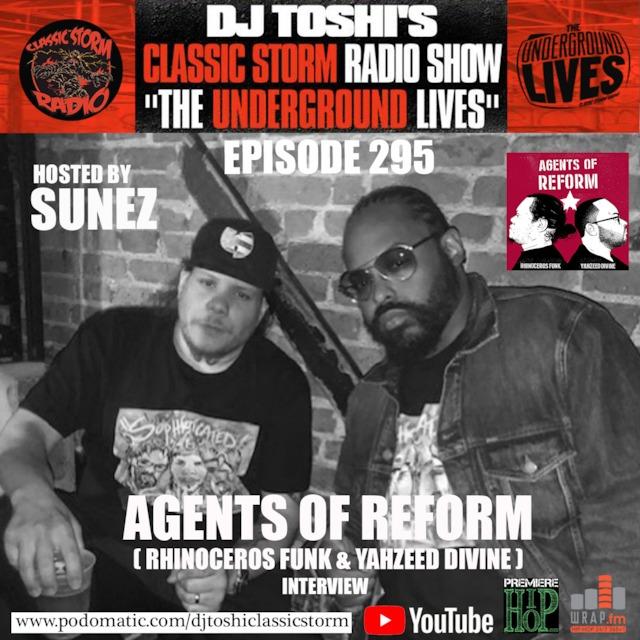 DJ Toshi Sunez classic storm radio yahzeed divine Rhinocerous funk O The Great Agents of Reform